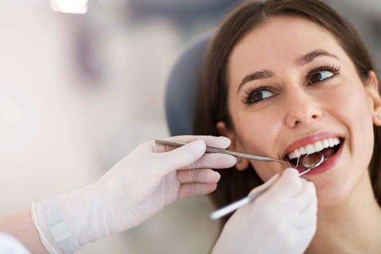 beautiful woman at the dental clinic