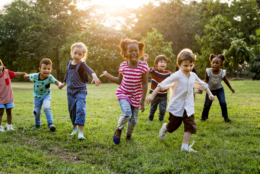 children outside