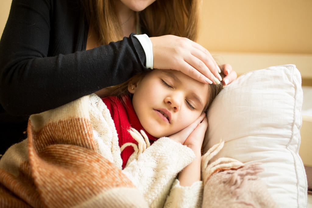 mother with sick child